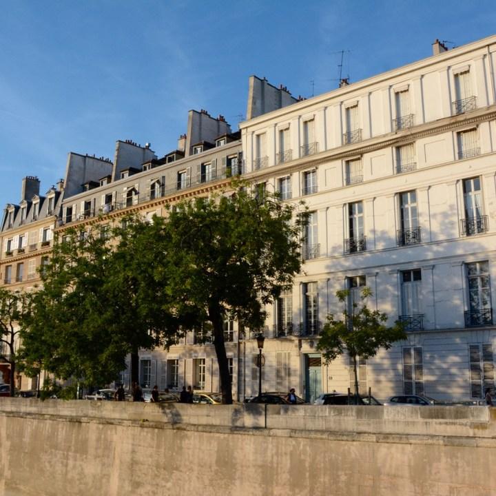 Paris France seine houses architecture