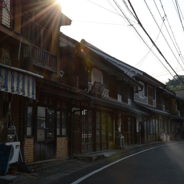 row wooden traditional houses Kurashiki