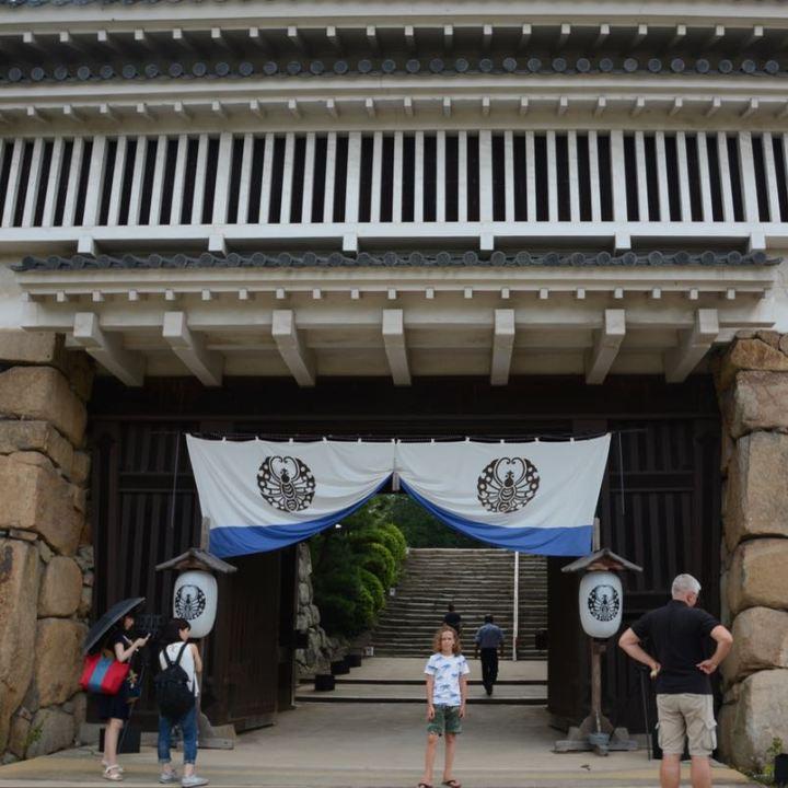 Okayama castle main wooden gate