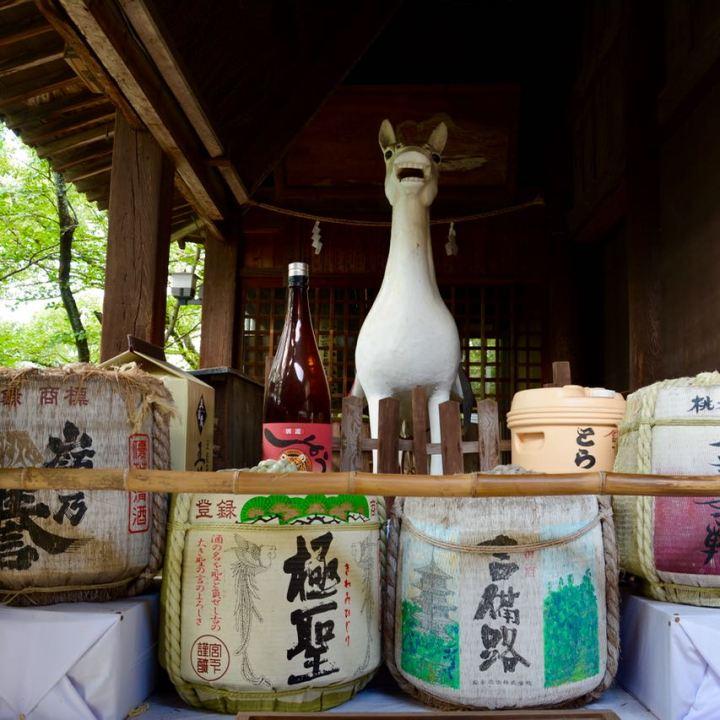 kibi plain cycle ride Kibitsu shrine offerings