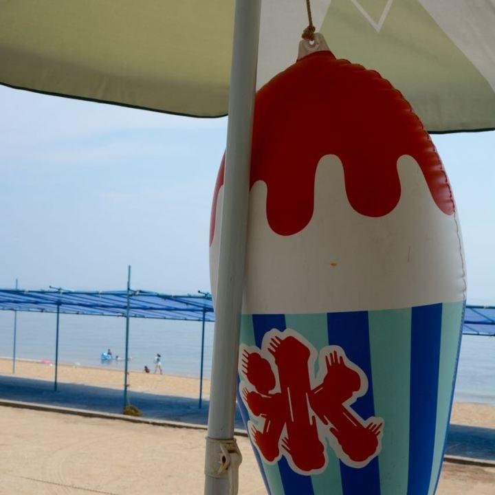 tomonoura beach kakigori