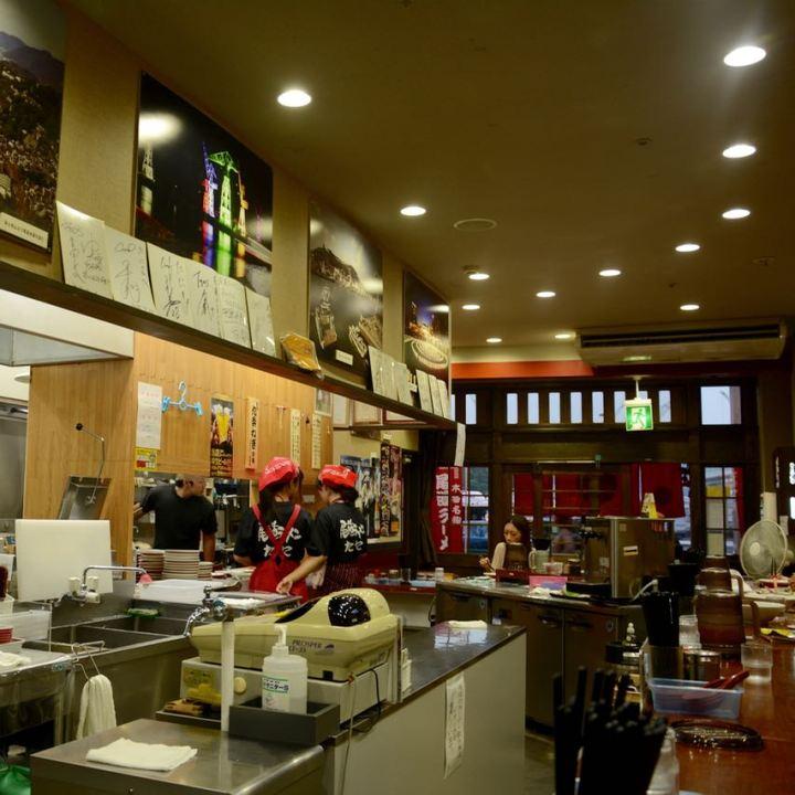 Onomichi Tani ramen restaurant kitchen