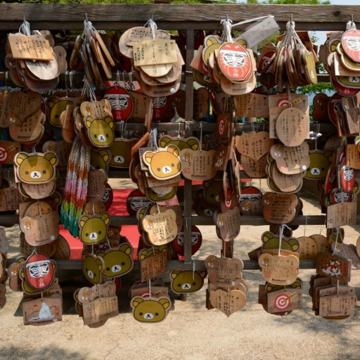 onomichi temple walk senkoji ema wooden wishing plaques