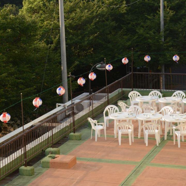 innoshima hotel terrace lantern
