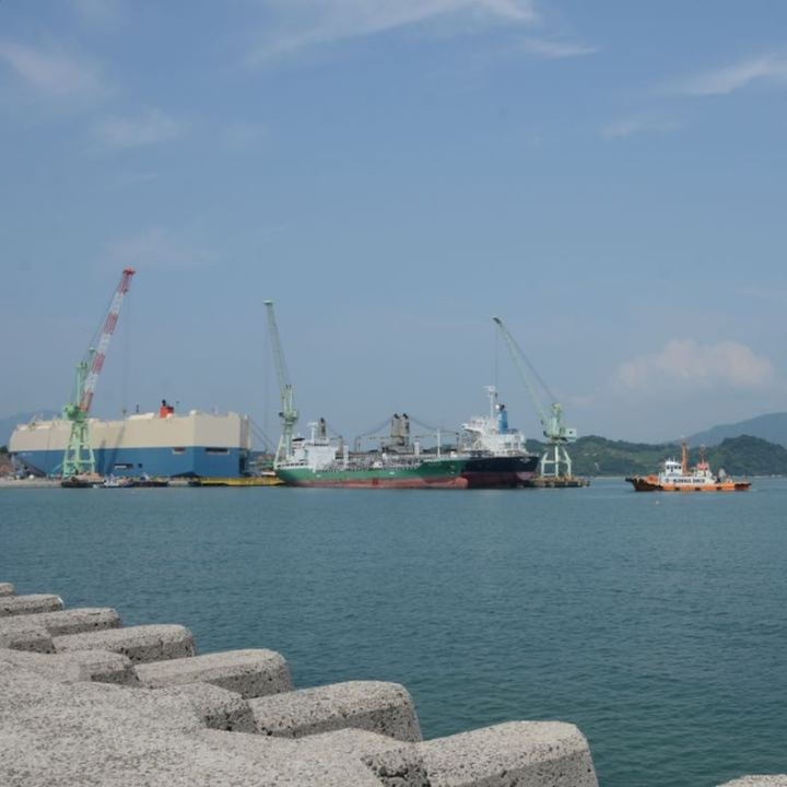 innoshima shimanami kaido cycle path ship building dock