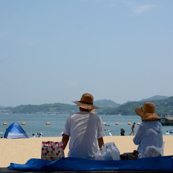 innoshima shimanami kaido cycle path beach shade