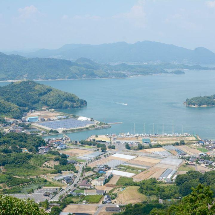 innoshima shiarataki shrine seto inland sea view