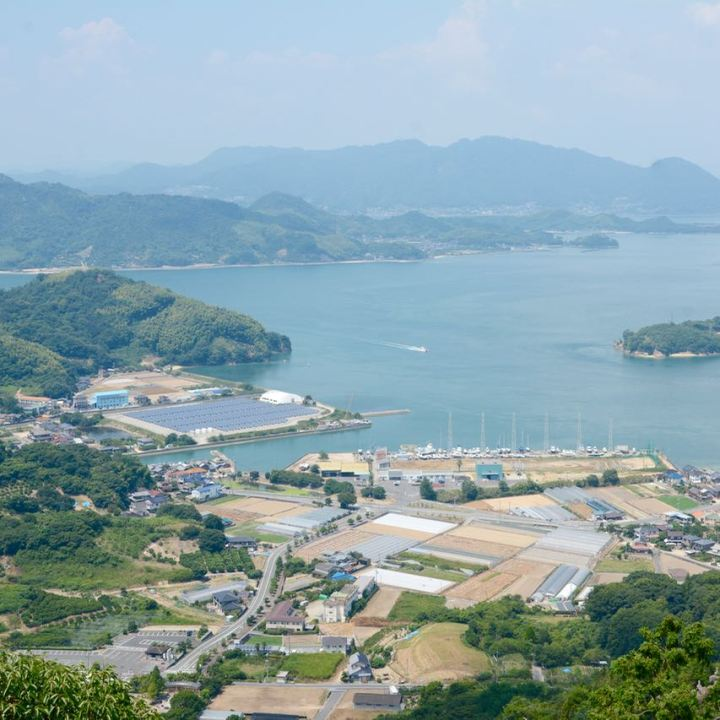 innoshima shiarataki shrine seto inland sea view