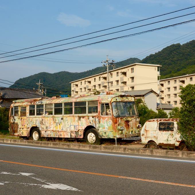 Ikuchijima setoda sunset beach party bus