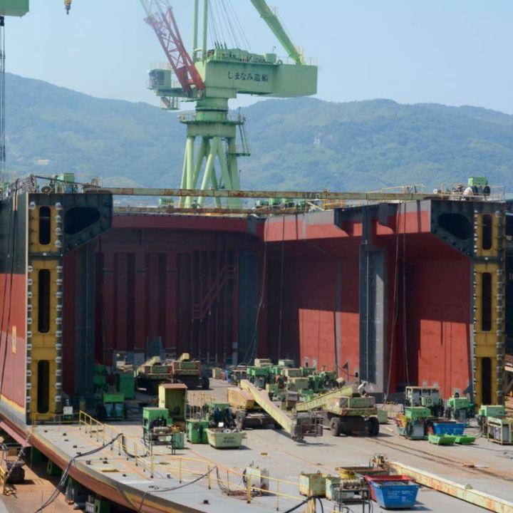 shimanami kaido cycling seto inland sea shipyard
