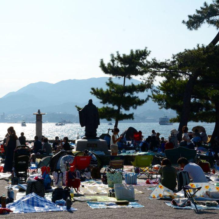 miyajima hanabi firework viewing spot