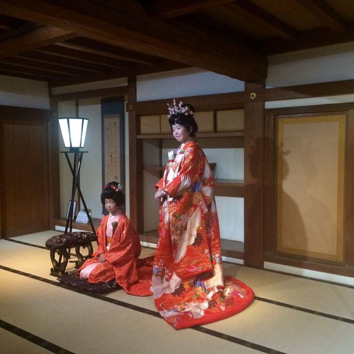 Okayama castle kimono