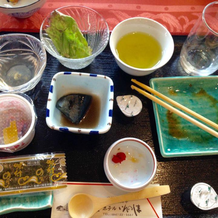 Innoshima hotel traditional japanese breakfast