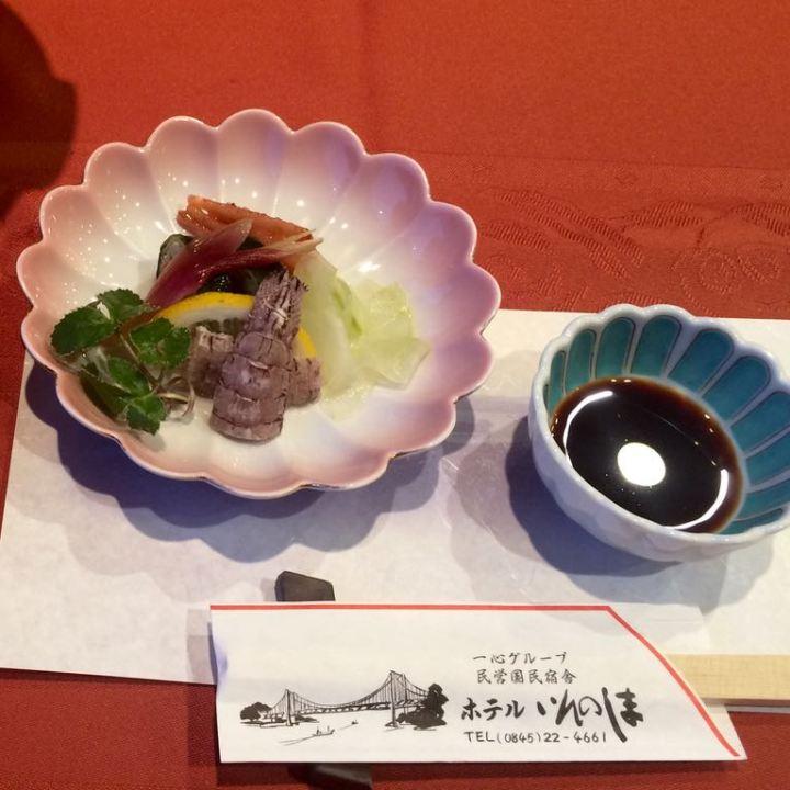 innoshima hotel shimanami kaido dinner kaiseki cuisine