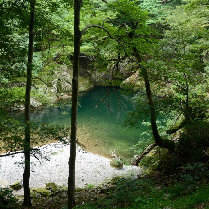 Sandankyo gorge Hiroshima Japan natural swimming pool
