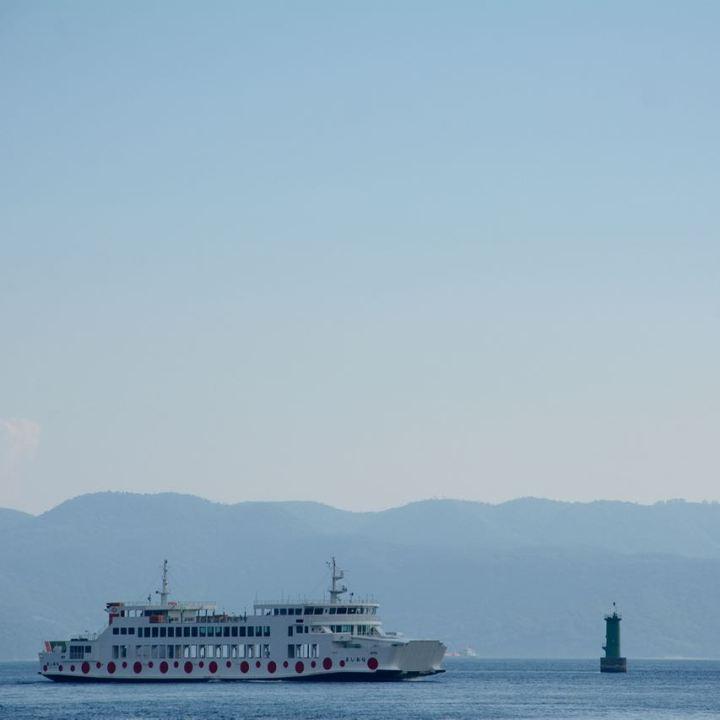 naoshima japan miyanoura ferry yayoi kusama