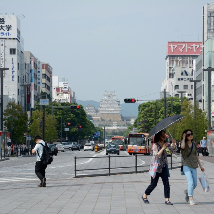 Himeji castle town centre station