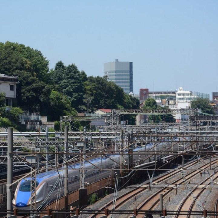 Nishi nippori station shinkansen train spotting