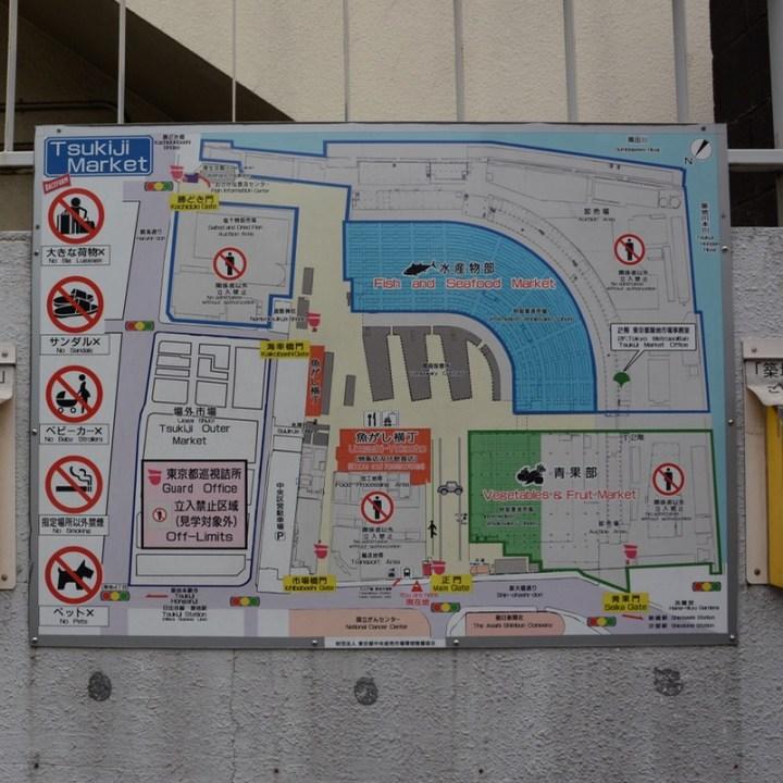 Tsukiji tokyo fish market map