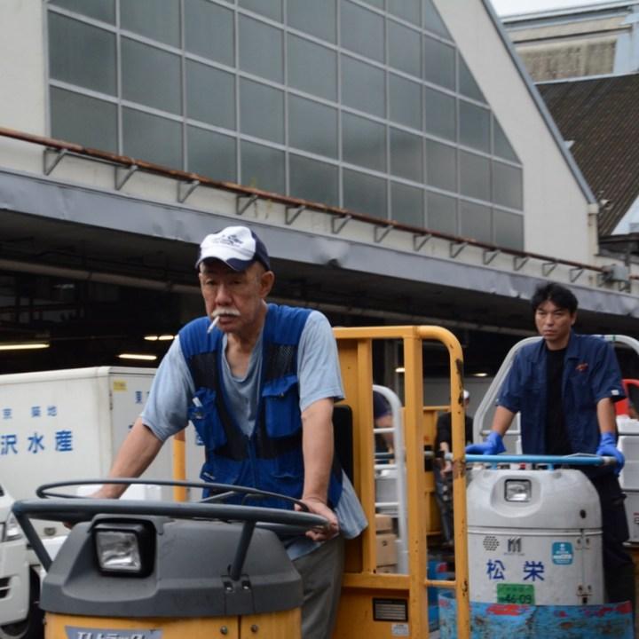Tsukiji tokyo fishmarket turret drivers