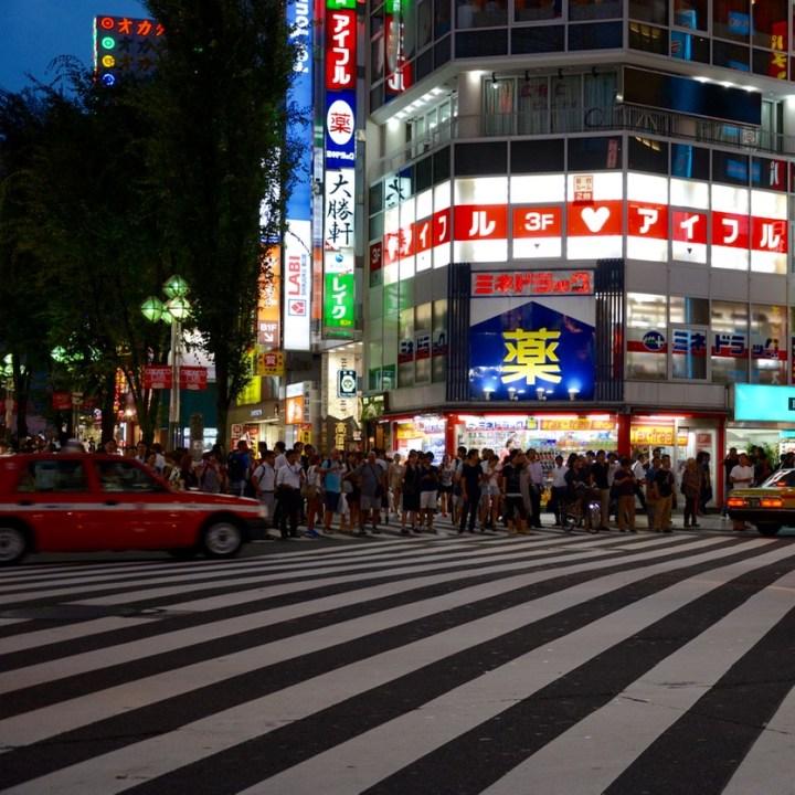 Shinjuku tokyo kabukicho zebra crossing
