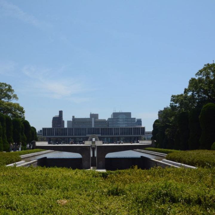 Hiroshima peace memorial park fountain