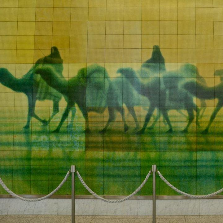 Hiroshima peace memorial museum tiles art picture