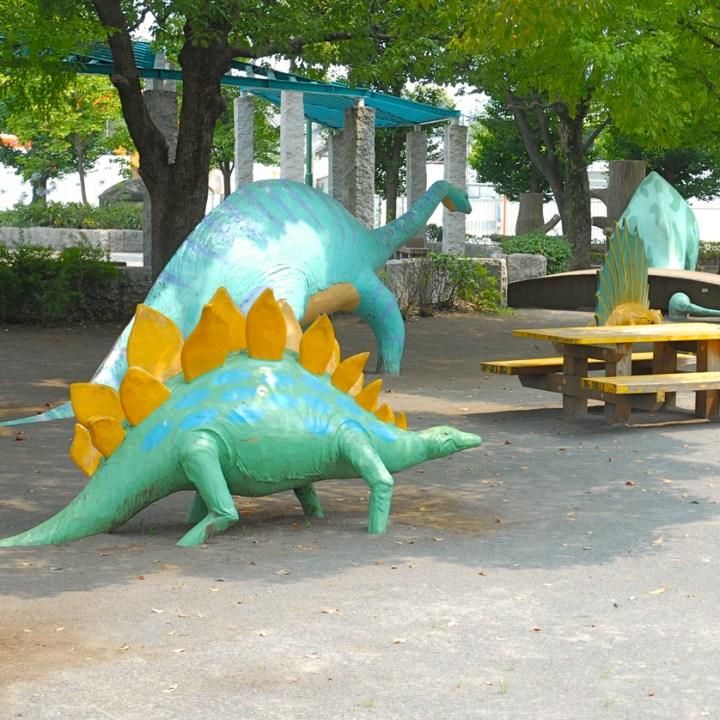 travel with children kids japan tokyo playground dinosaur