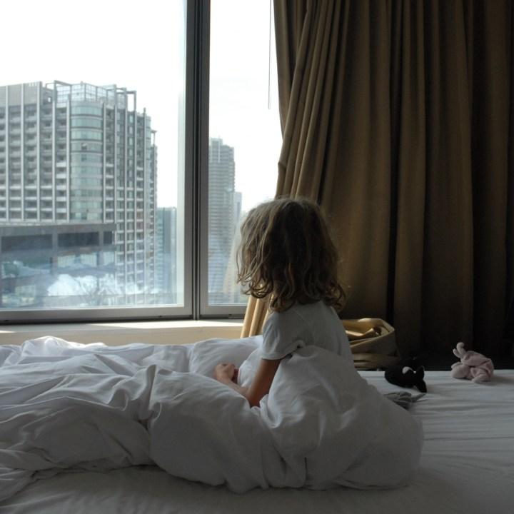 travel with kids children tokyo japan park hotel tokyo