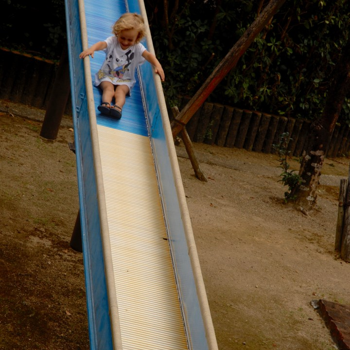 travel with children kids japan tokyo roller slide playground