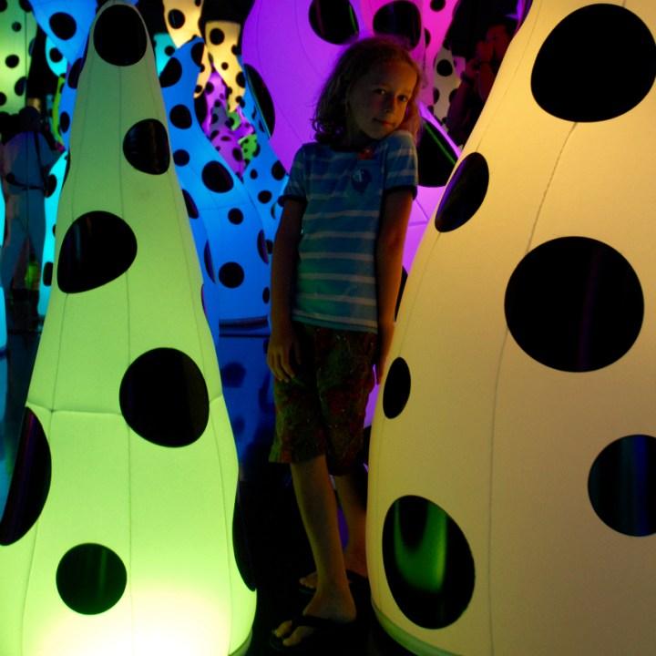 travel with children kids japan tokyo mori art museum yayoi kusama