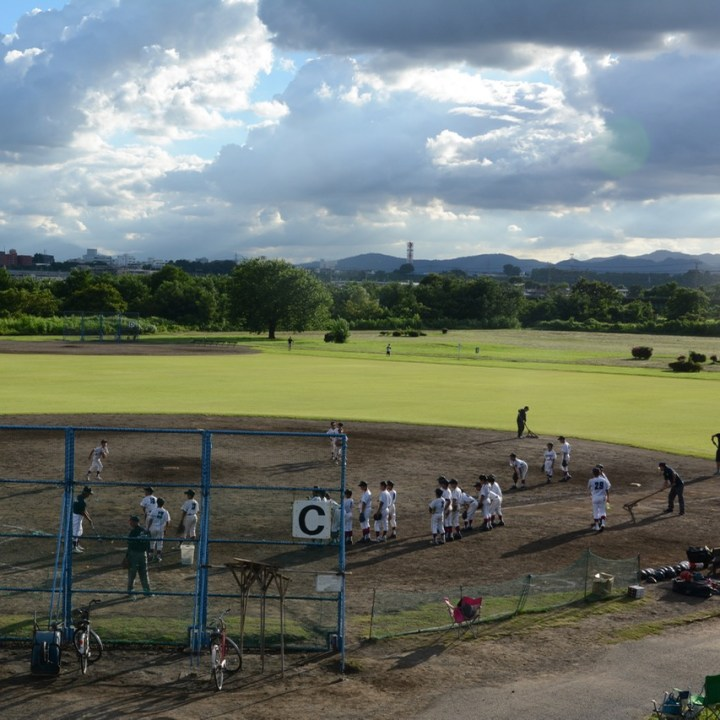 tama river cycling baseball court