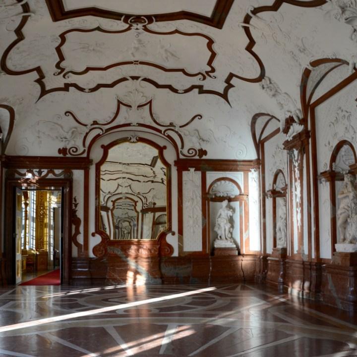 Vienna Wien Austria with children kids lower belvedere marble room
