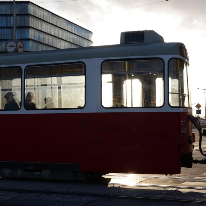 Vienna weekend with kids children tram ride