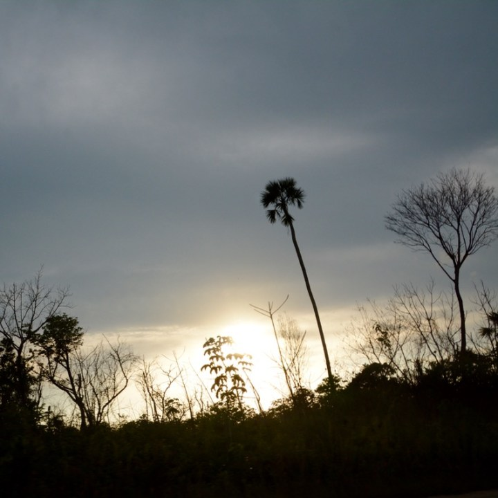 Cancun Mexico highway sunset