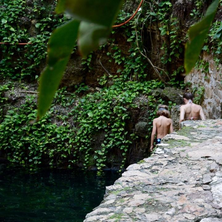 Valladolid mexico with children kids cenote zaki swimming
