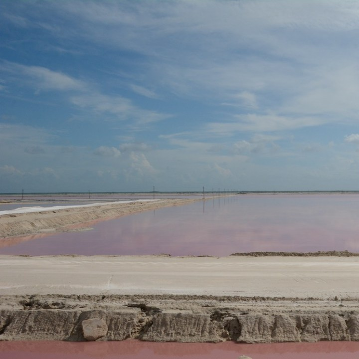 Travel with children kids mexico las coloradas salt lakes
