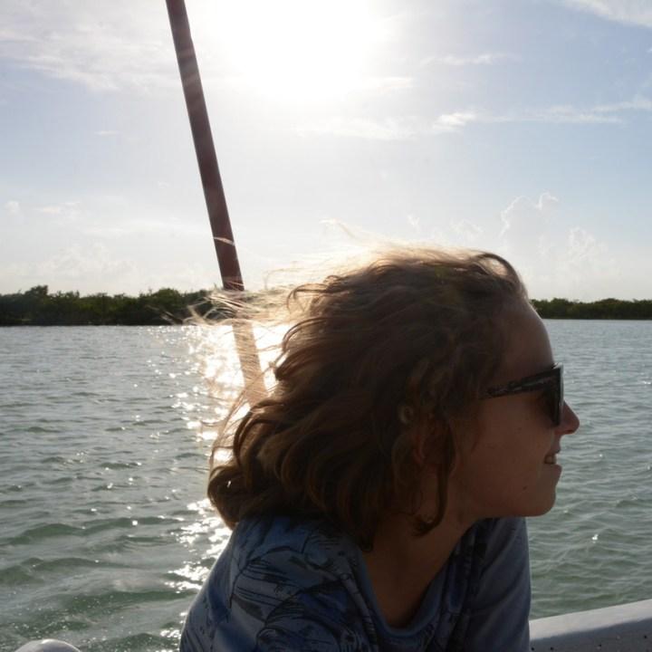 Travel with children kids mexico rio lagartos boat tour