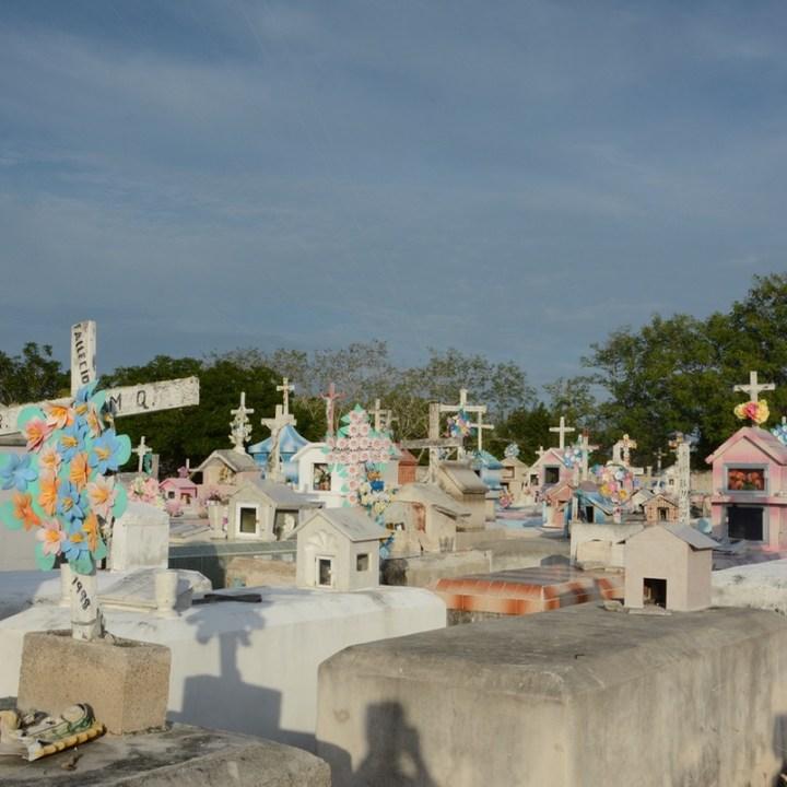 Travel with children kids mexico rio lagartos cemetery