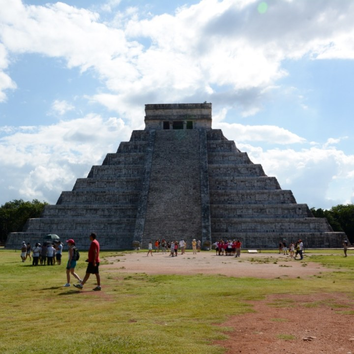 travel with children kids mexico chichen itza temple of warriors el castillo