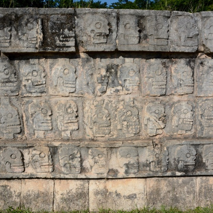 travel with children kids mexico chichen itza skull platform