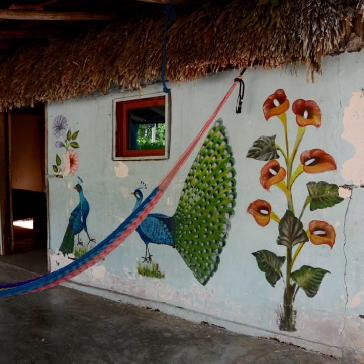 travel with children kids mexico chichen itza local house