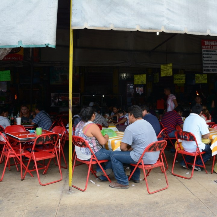 Mexico Merida travel with children kids taqueria loncheria