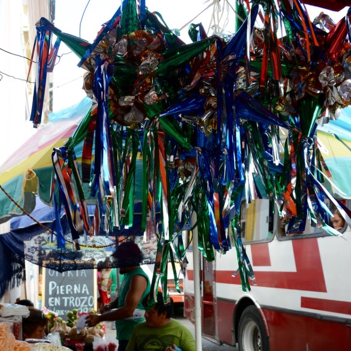 Travel with children kids mexico merida star pinata