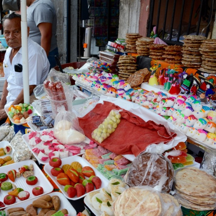 Travel with children kids mexico merida sweet candy stall