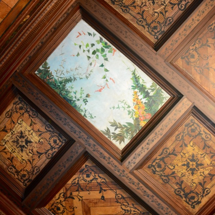 Travel with children kids mexico merida casa de montejo ceiling