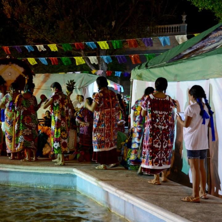 Travel with children kids mexico merida oaxacan festival dancers
