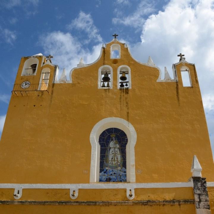 Travel with children kids mexico merida izamal convento de san antonio de padua church