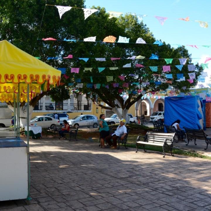 Travel with children kids mexico merida izamal street decoration locals