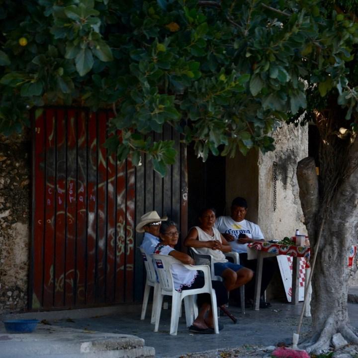 Travel with children kids mexico merida izamal cacalchen locals